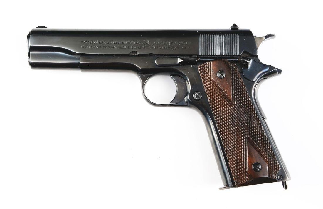 (C) Colt Model 1911 Commercial Semi-Automatic Pistol - 2
