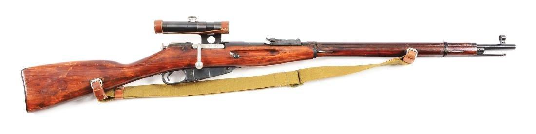 (C) Russian Mosin Nagant Model 91/30 Sniper Rifle with