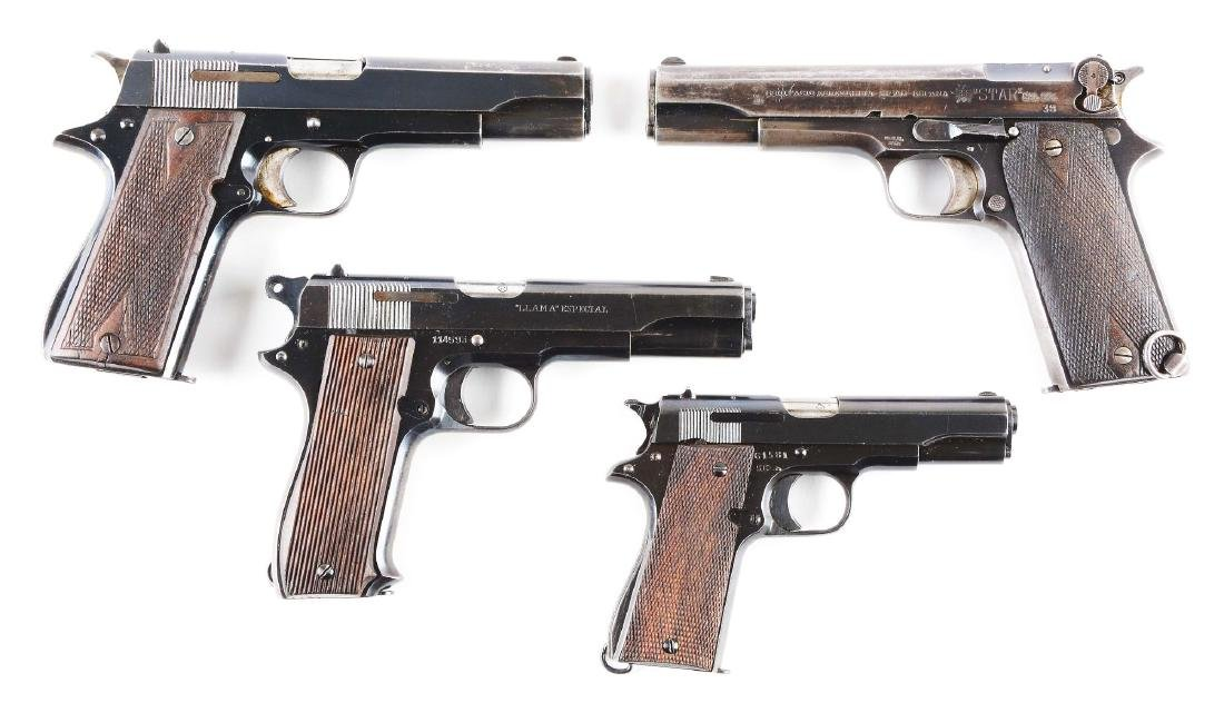 (C) Lot of 4 Spanish Semi-Automatic Pistols: Star 1920