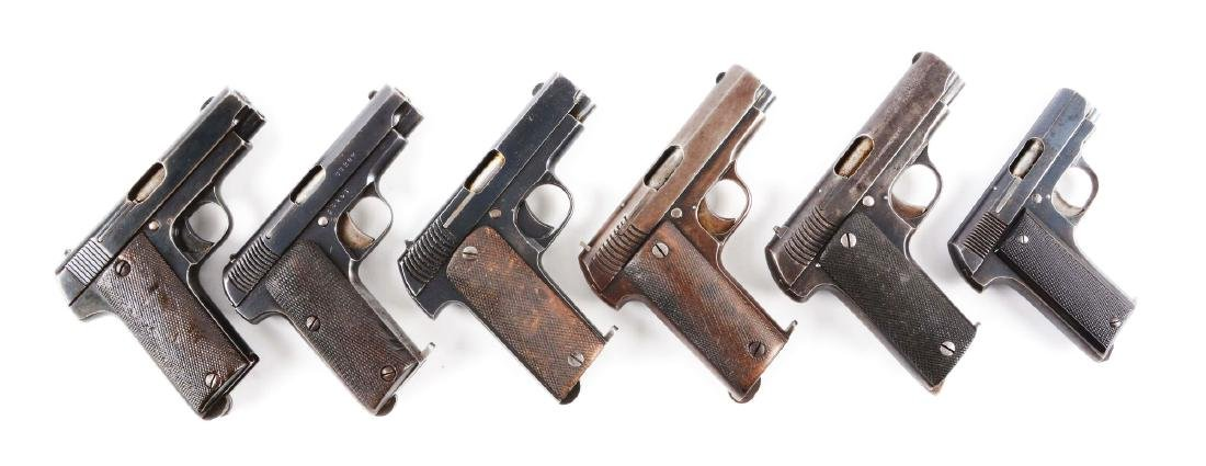 (C) Lot of 6: Spanish Pre-War Mid-Size Semi-Automatic