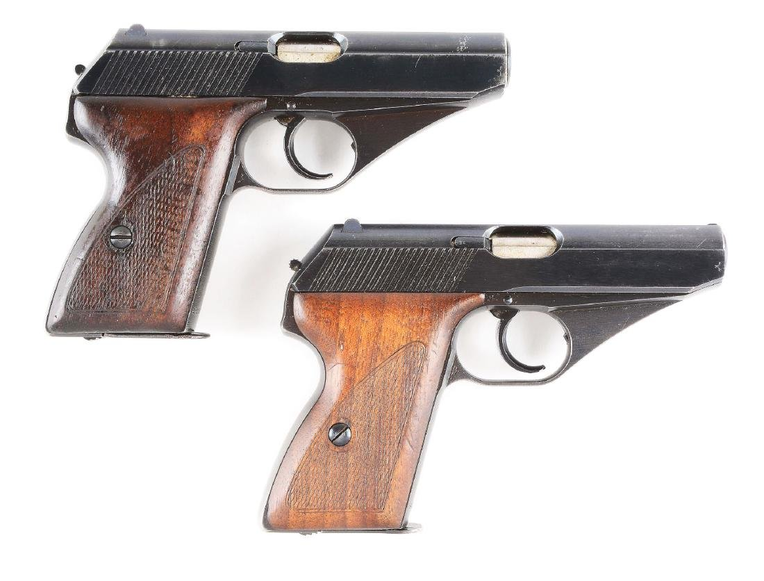 (C) Lot of 2 WWII Nazi German Mauser Model HSc Pistols.