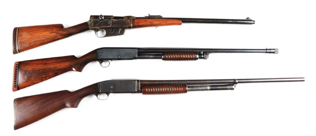 (C) Lot of 3: Remington Model 81 Rifle, Model 17 &