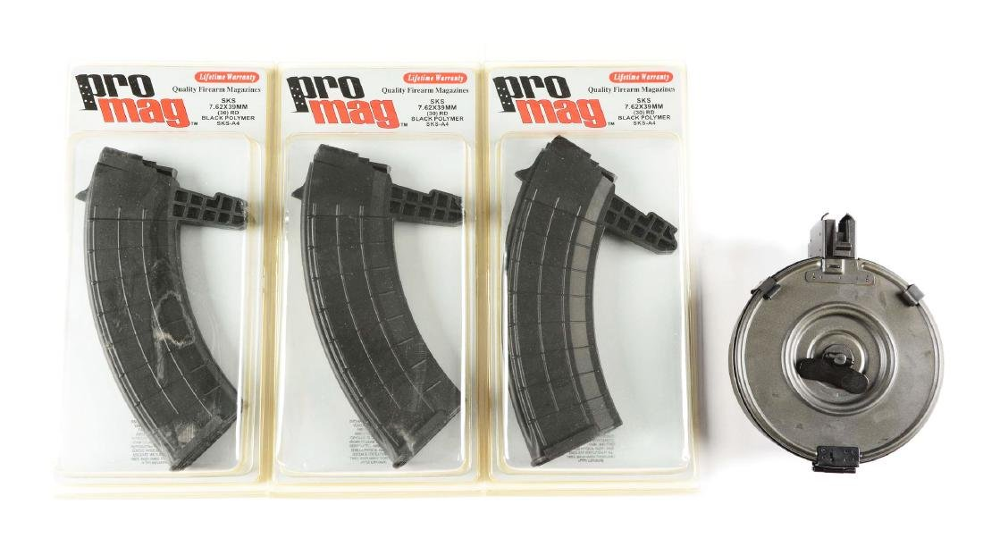 Lot Of 4 SKS and AK-47 Magazines.