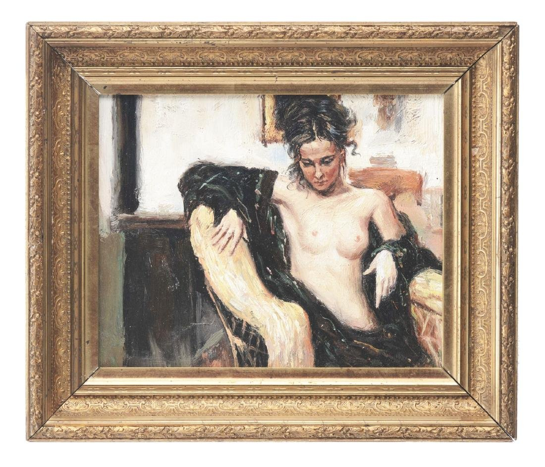 Seated Nude Painting.