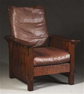 Early LJG Stickley Onondaga Shops Morris Chair