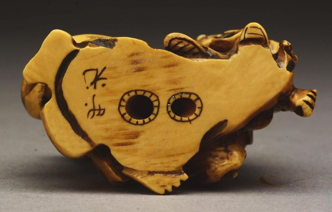 Lot Of 8: Japanese Caved Netsuke Figures. - 5