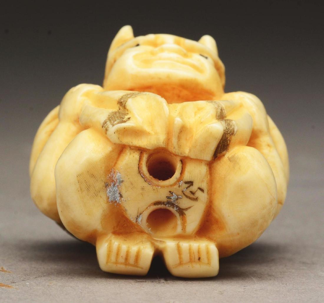 Lot Of 8: Japanese Caved Netsuke Figures. - 7