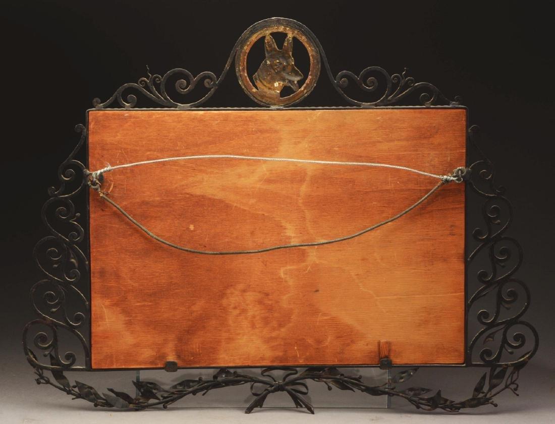 Art Deco Iron & Bronze Mirror. - 3