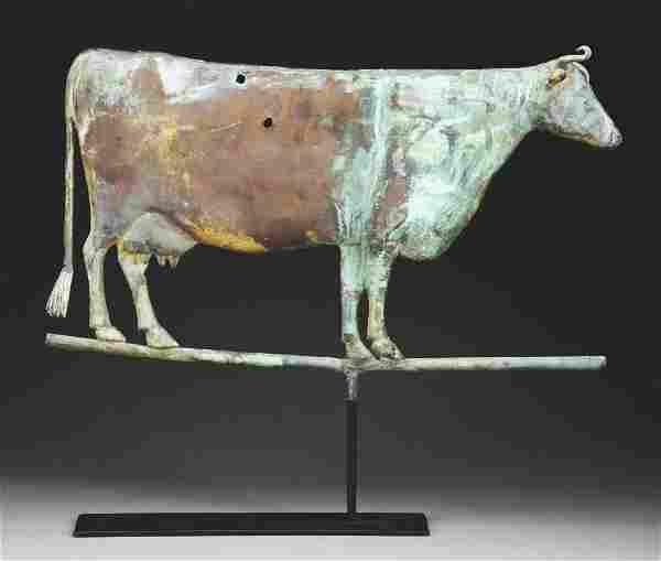 Full Body Copper Cow Weathervane.