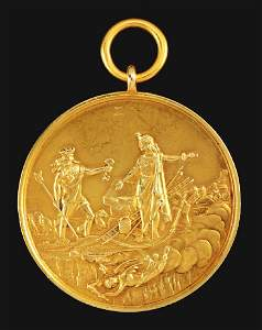 Rare 14K Gold FDNY Medal Of Valor.