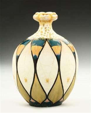 Amphora Ceramic Matte  Enameled Glazed Spider Vase
