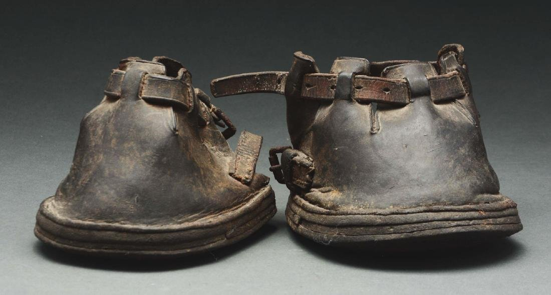 Pair Of Leather Horse Boots.