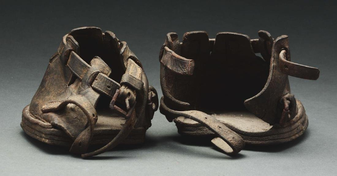 Pair Of Leather Horse Boots. - 2