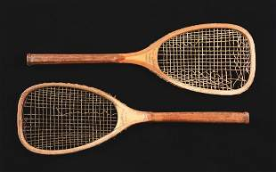 Lot Of 2 Wright  Ditson Tennis FlatTop Rackets