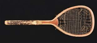 Early FlatTop Tennis Racket
