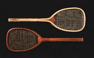 Lot Of 2 Horsman and Unmarked FlatTop Tennis Rackets