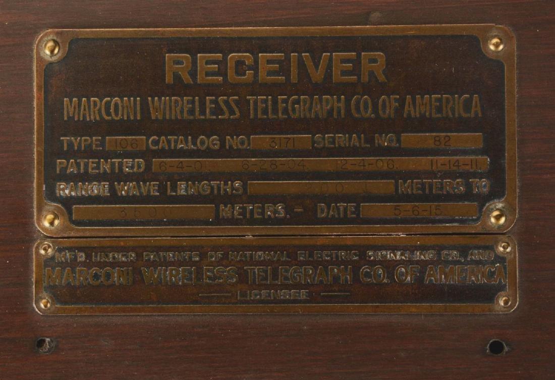 Marconi Type 106-D WWI Battleship Receiver. - 4