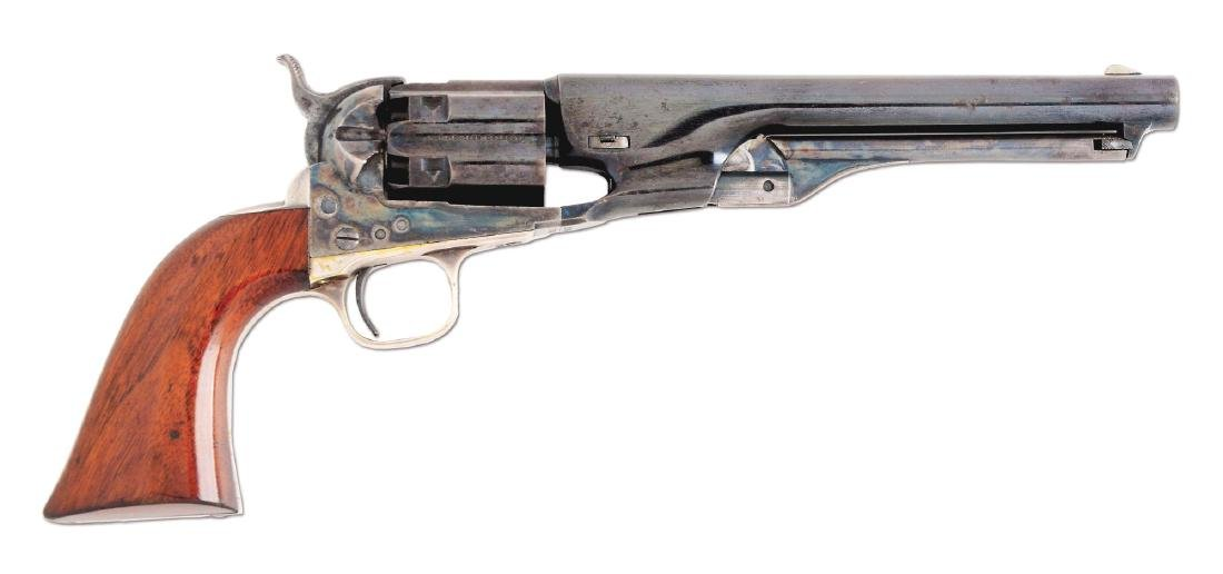 (A) Colt 1860 Fluted Army Percussion Revolver (1860).