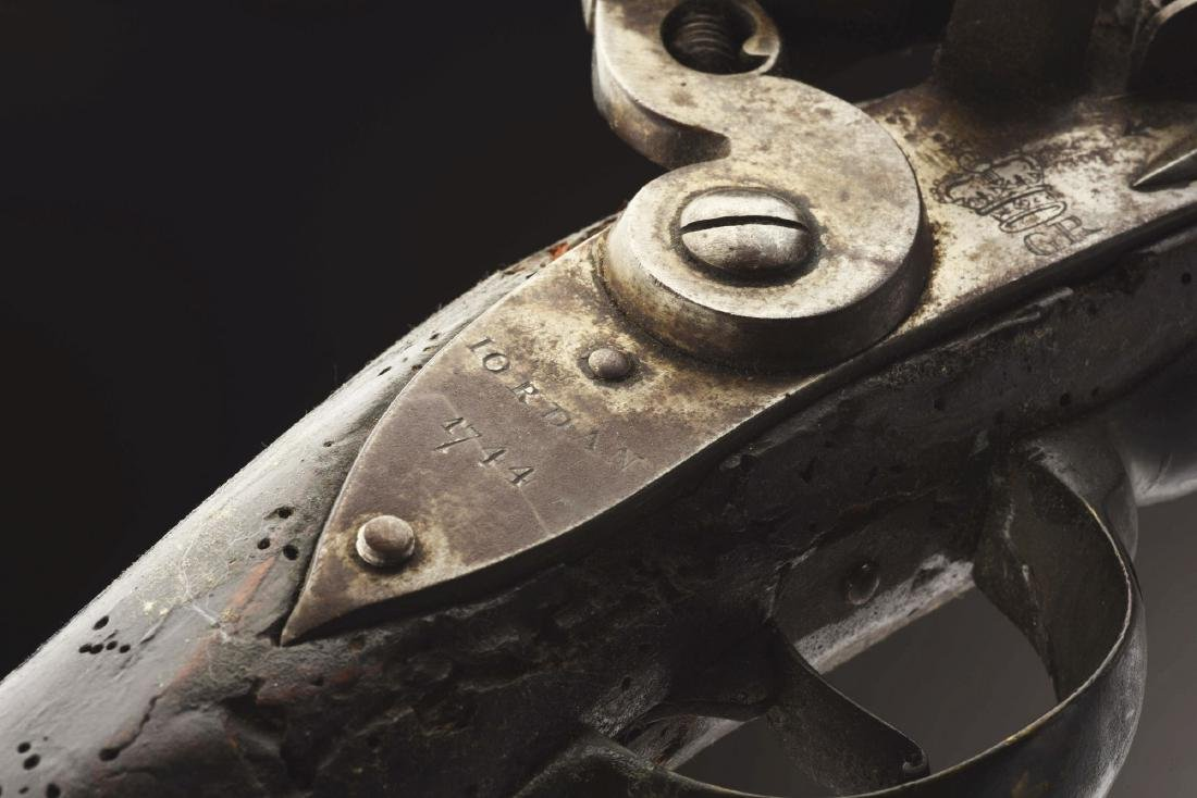 (A) Rare British Flintlock Pattern 1738 Black Short Sea - 2