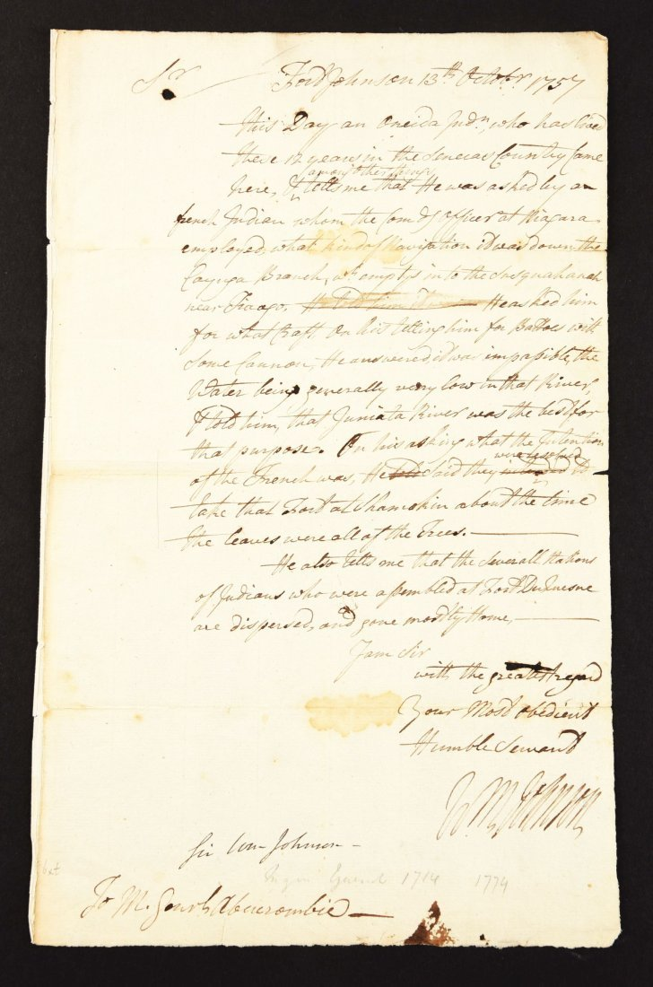 WILLIAM JOHNSON FORWARDS INTELLIGENCE OF PLANNED FRENCH
