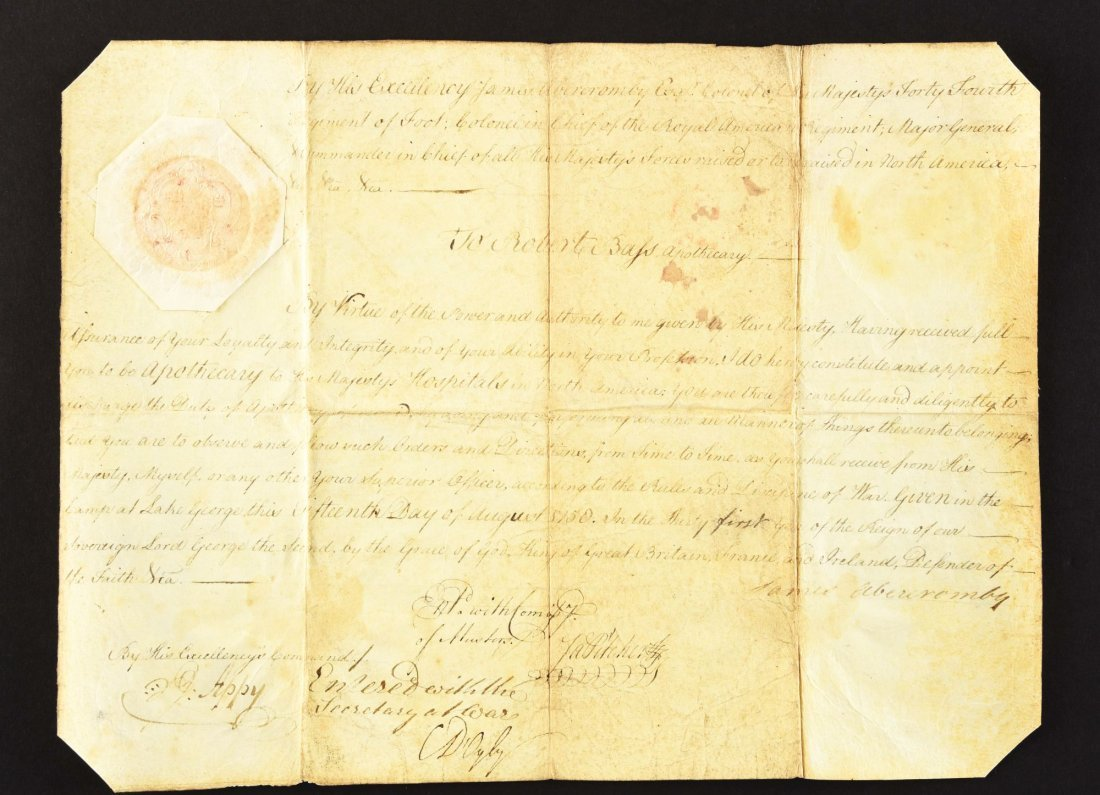 PAPERS OF ROBERT BASS, BRITISH ARMY APOTHECARY AND - 10