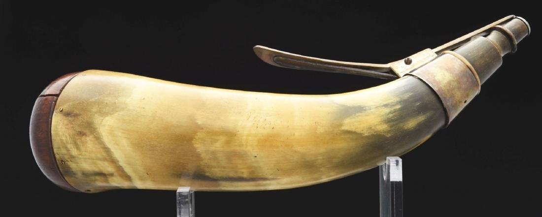 "Silver Mounted Powder Horn Hallmarked ""IM"". - 2"
