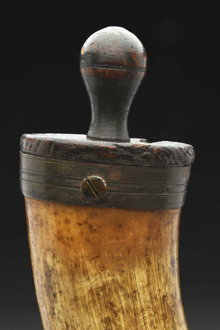 Brass Mounted Artillery Powder Horn. - 5