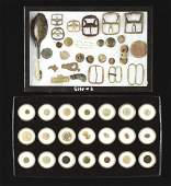 Large Lot of Dug Buttons Coins  Relics from Important