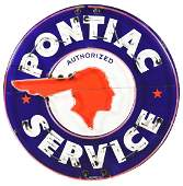 Outstanding Pontiac Service Porcelain Double Sided Neon