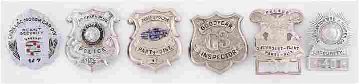 Lot Of 6 Metal Advertising Badges From Goodyear