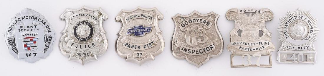 Lot Of 6: Metal Advertising Badges From Goodyear,