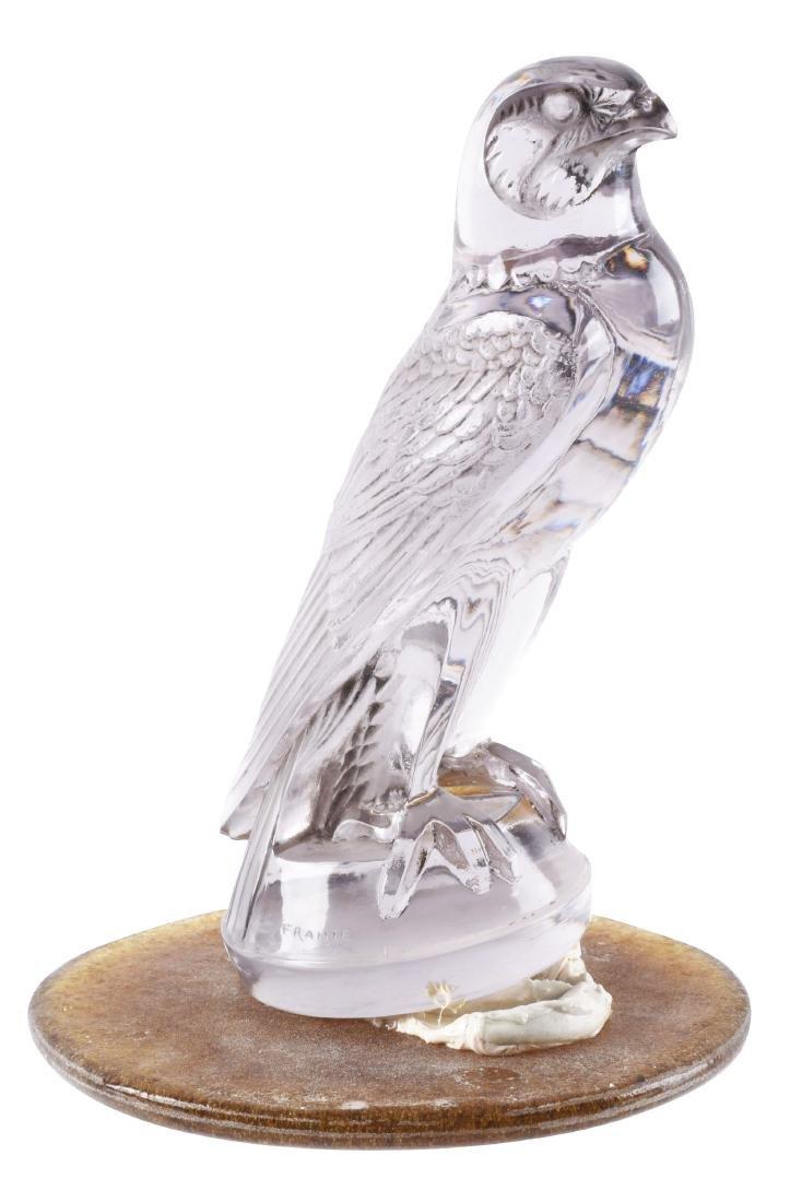 R. Lalique Amethyst Falcon Mascot Hood Ornament.