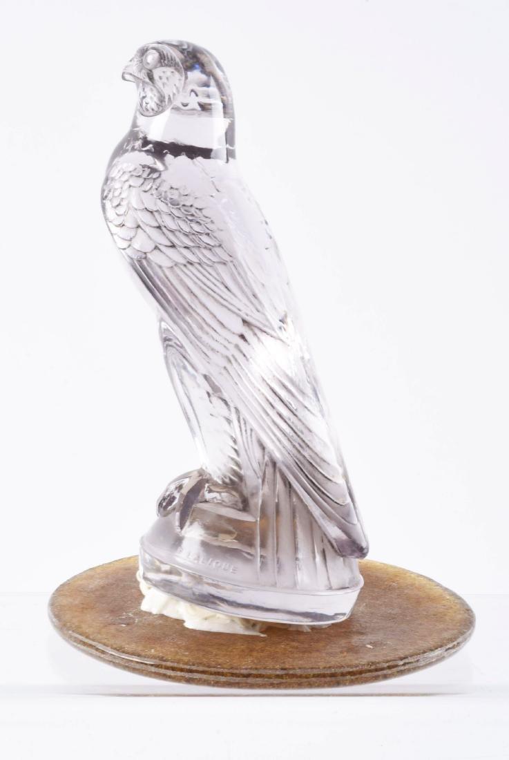 R. Lalique Amethyst Falcon Mascot Hood Ornament. - 2