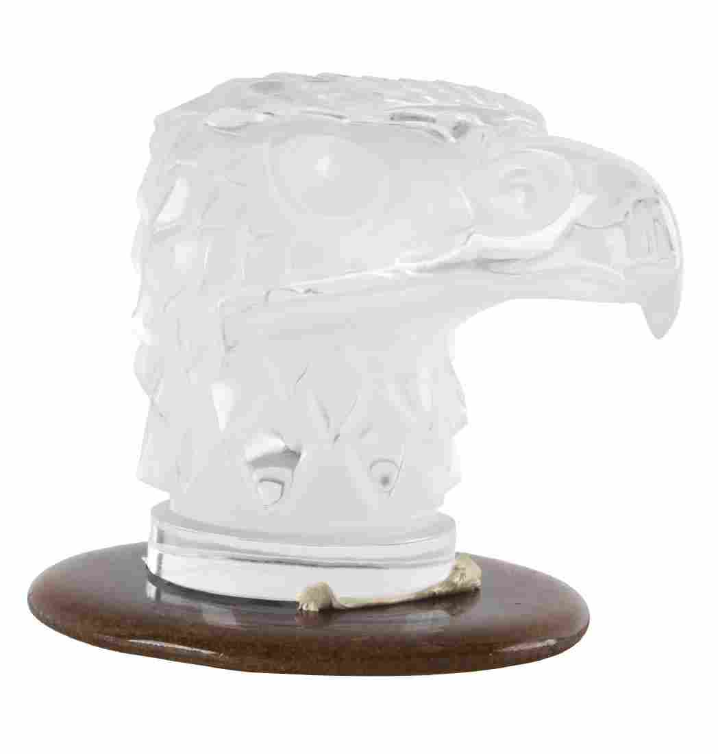 R. Lalique Clear Glass Eagle Mascot Hood Ornament.