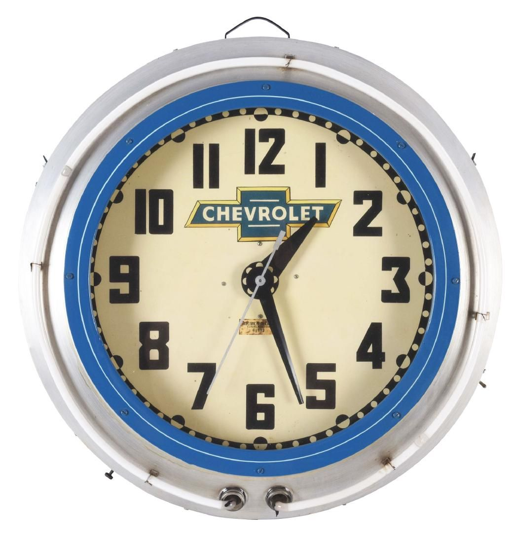 Cleveland Electric Neon Clock Company Neon Clock with
