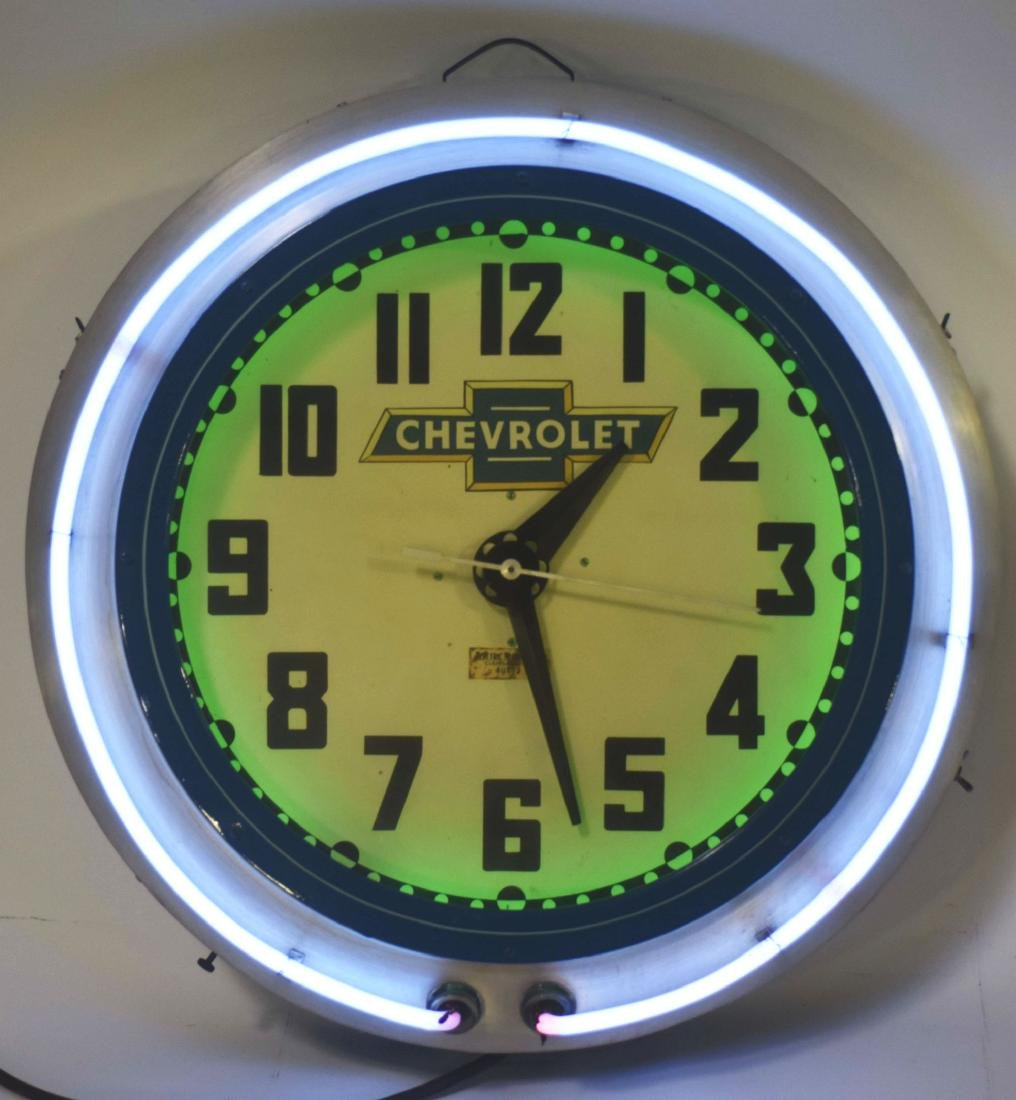 Cleveland Electric Neon Clock Company Neon Clock with - 2