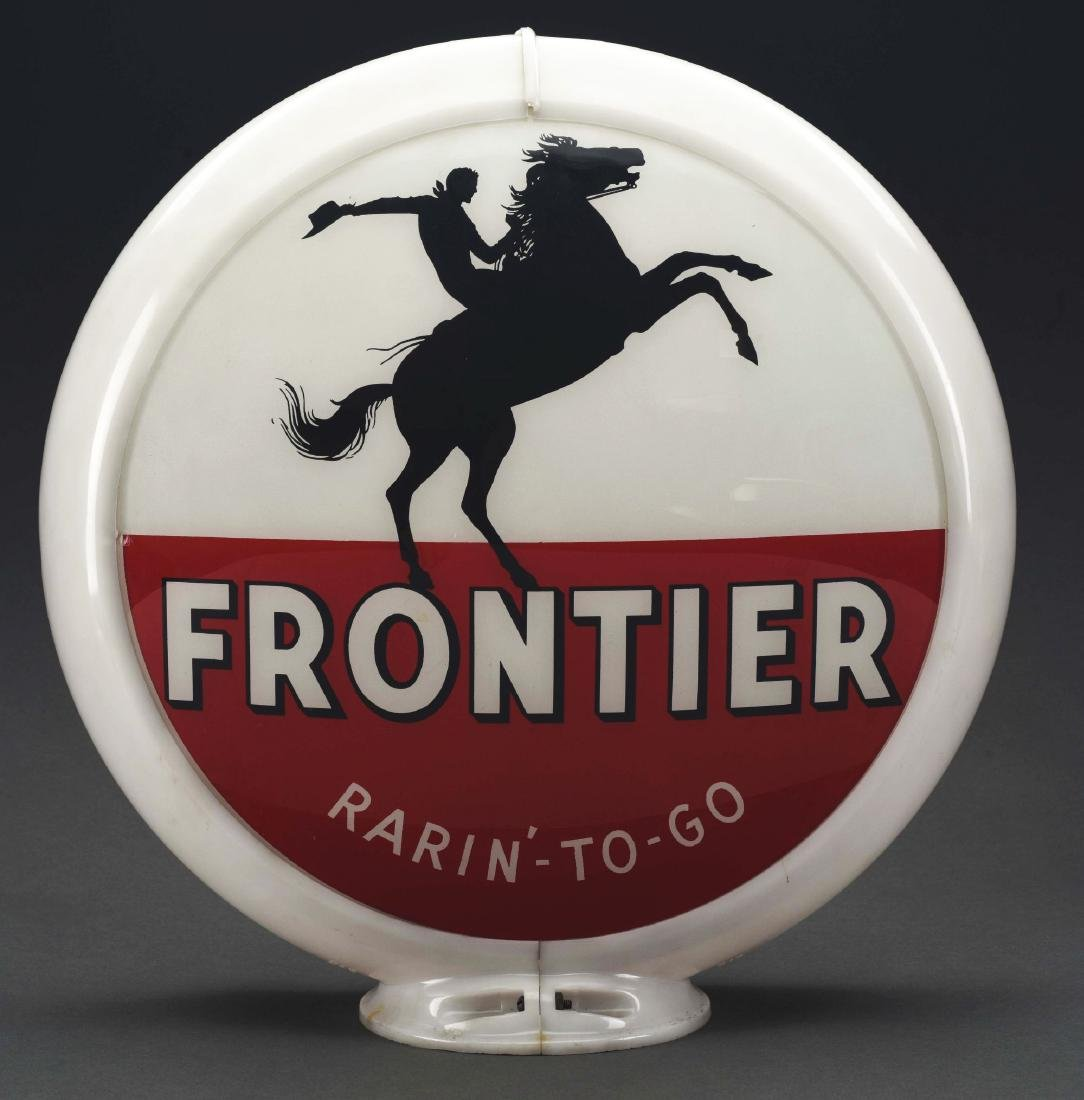 "Frontier Gasoline Rarin' To Go Complete 13.5"" Globe On"