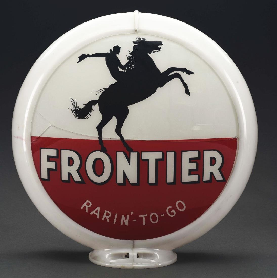 "Frontier Gasoline Rarin' To Go Complete 13.5"" Globe On - 2"