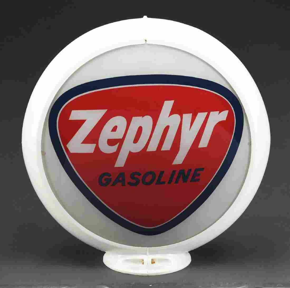 "Zephyr Gasoline Complete 13-1/2"" Globe In Original"