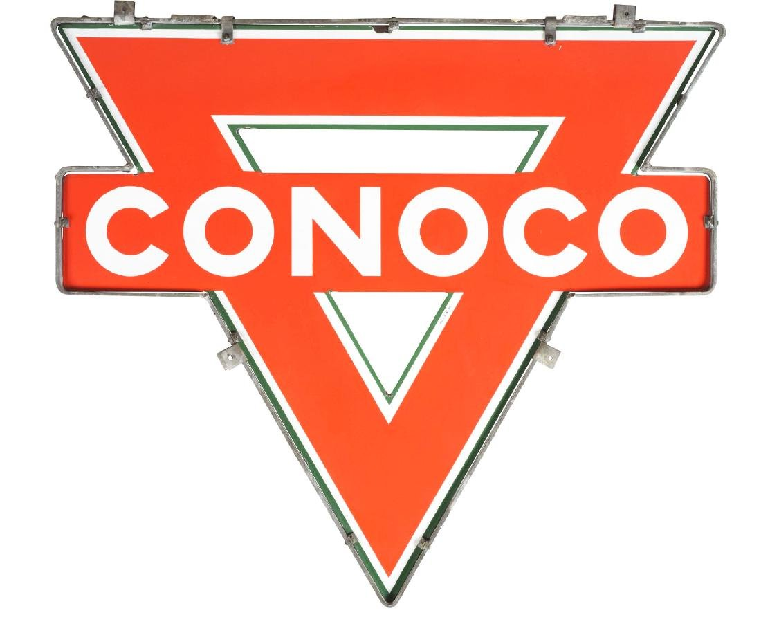 Outstanding Conoco Gasoline Porcelain Triangle Sign