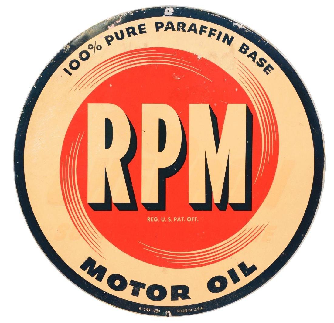 RPM Motor Oil Tin Sign.