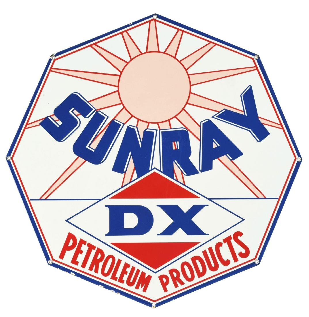 Very Rare DX Sunray Petroleum Products Albino Porcelain