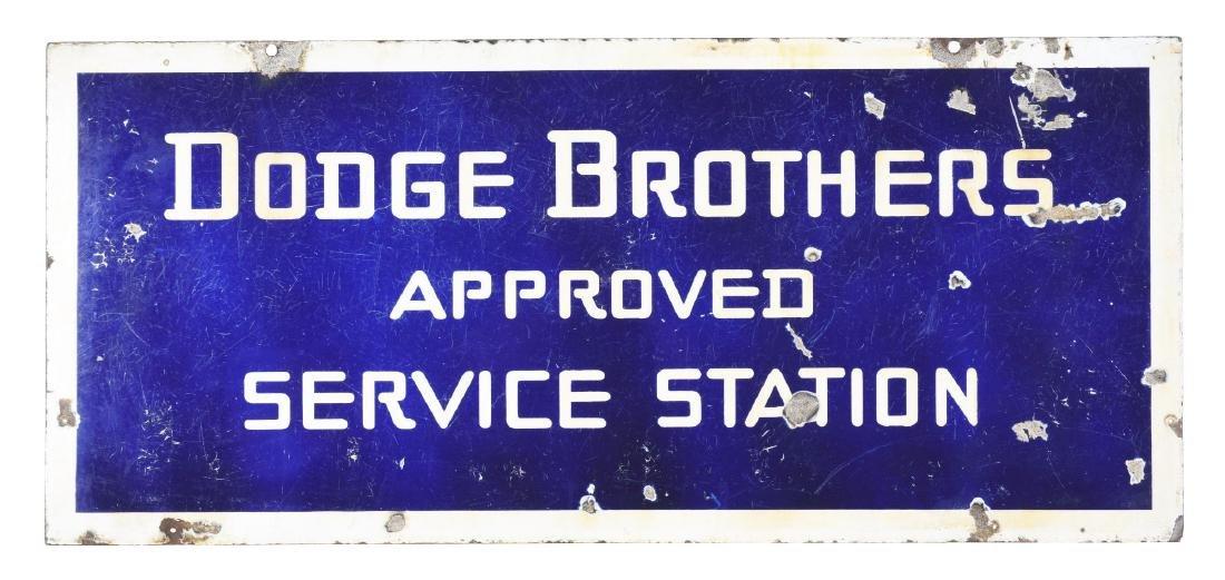 Dodge Brothers Approved Service Station Porcelain Sign.