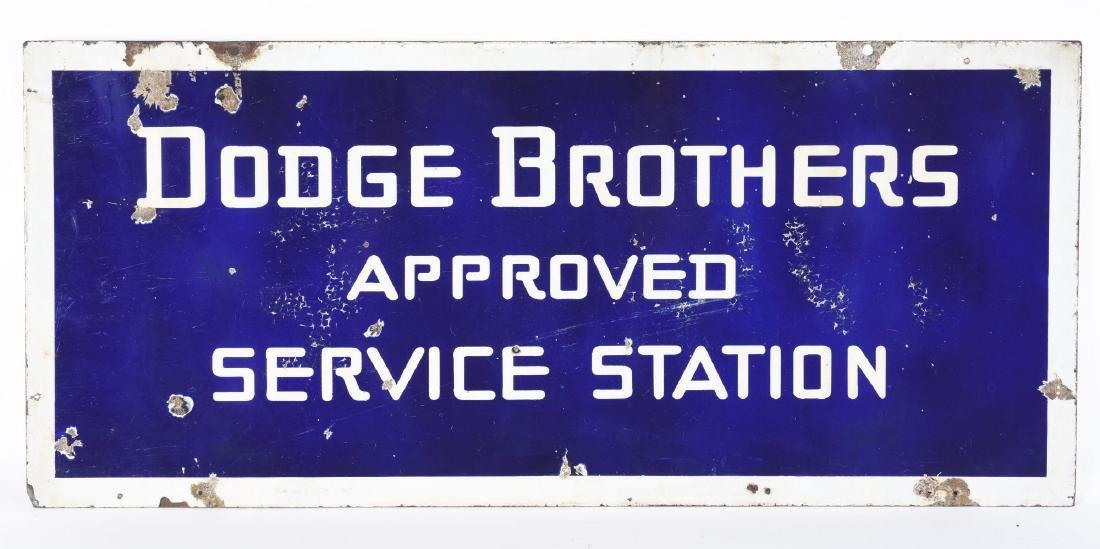 Dodge Brothers Approved Service Station Porcelain Sign. - 2