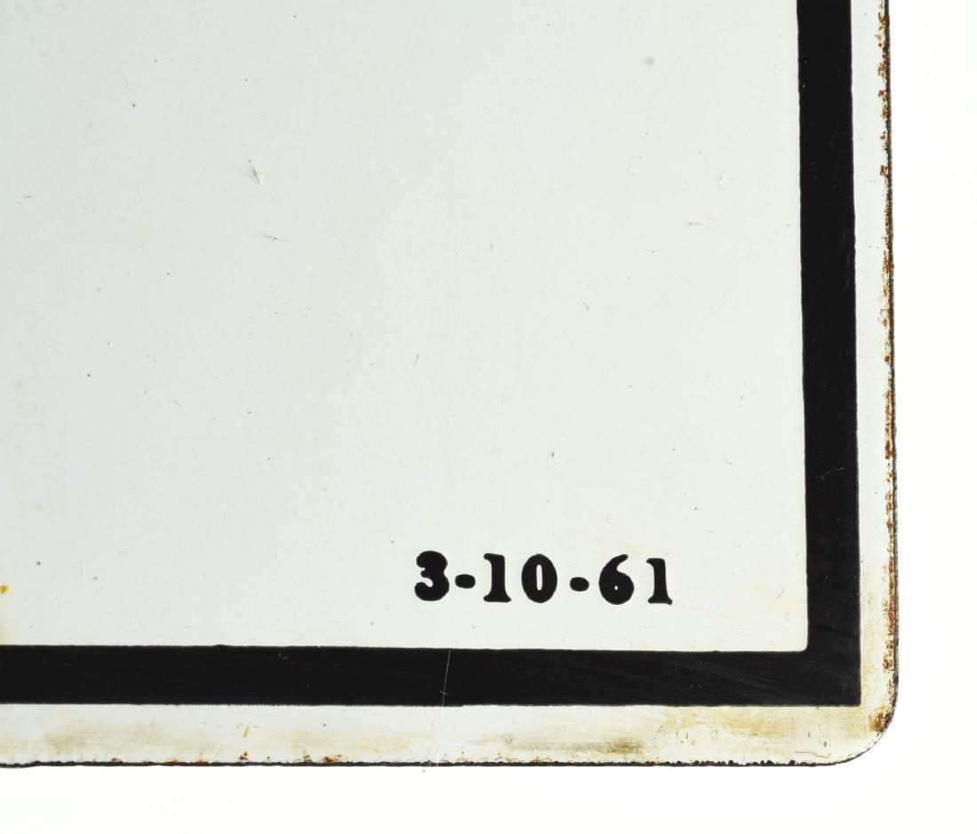Texaco Fire Chief Gasoline Porcelain Pump Sign. - 3