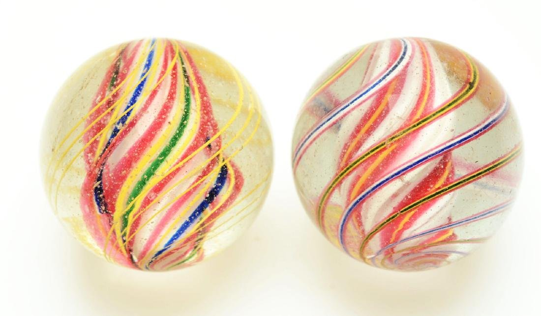 Lot Of 2: Large Swirl Marbles. - 2