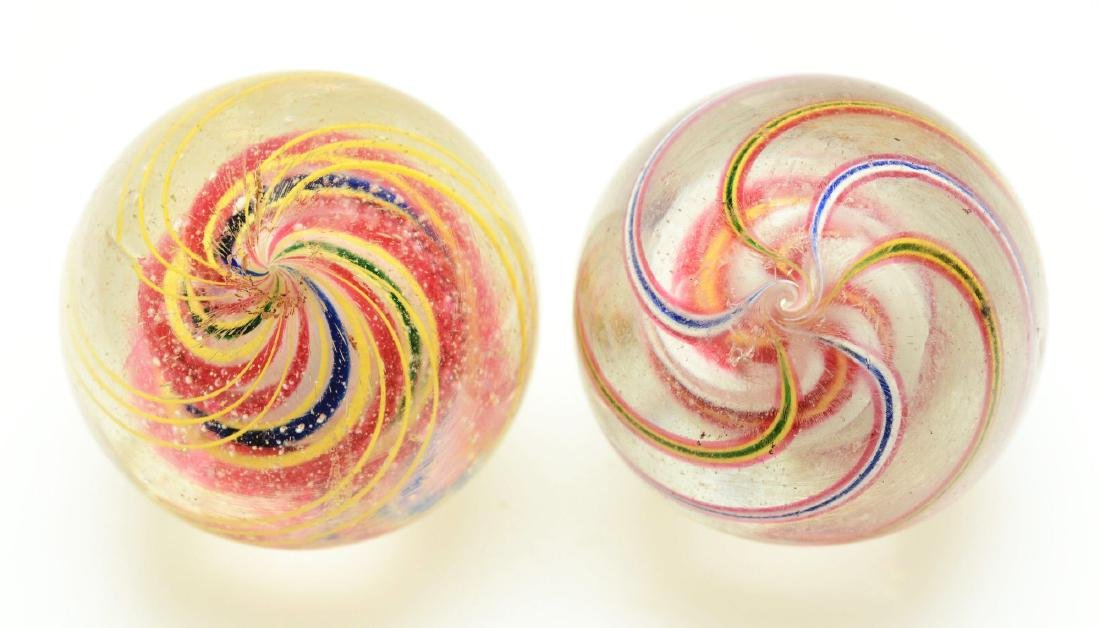 Lot Of 2: Large Swirl Marbles. - 3