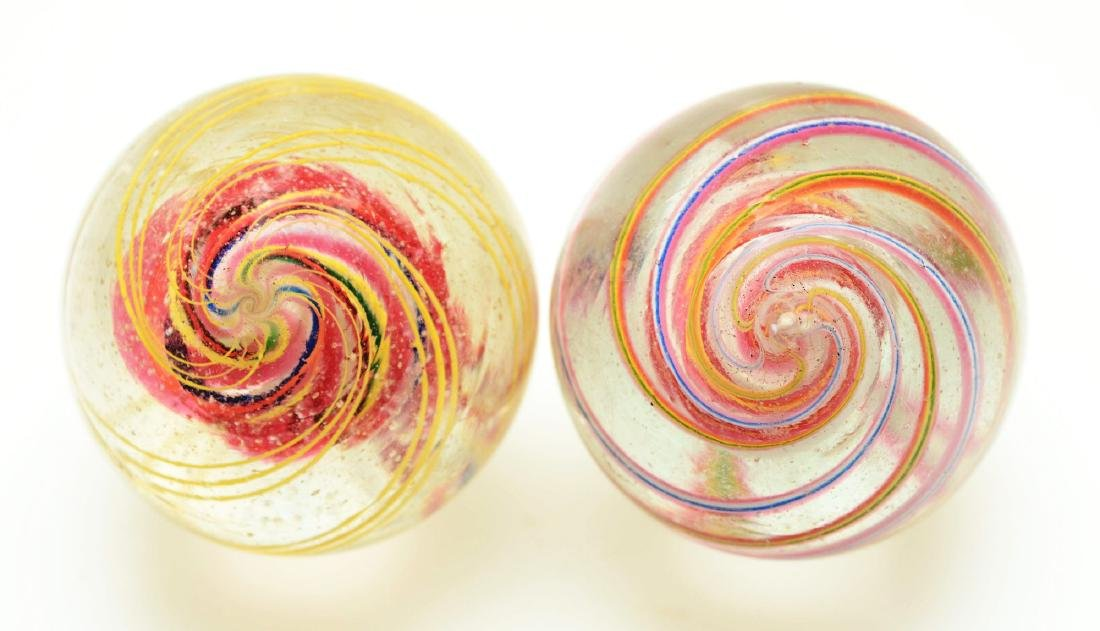 Lot Of 2: Large Swirl Marbles. - 4