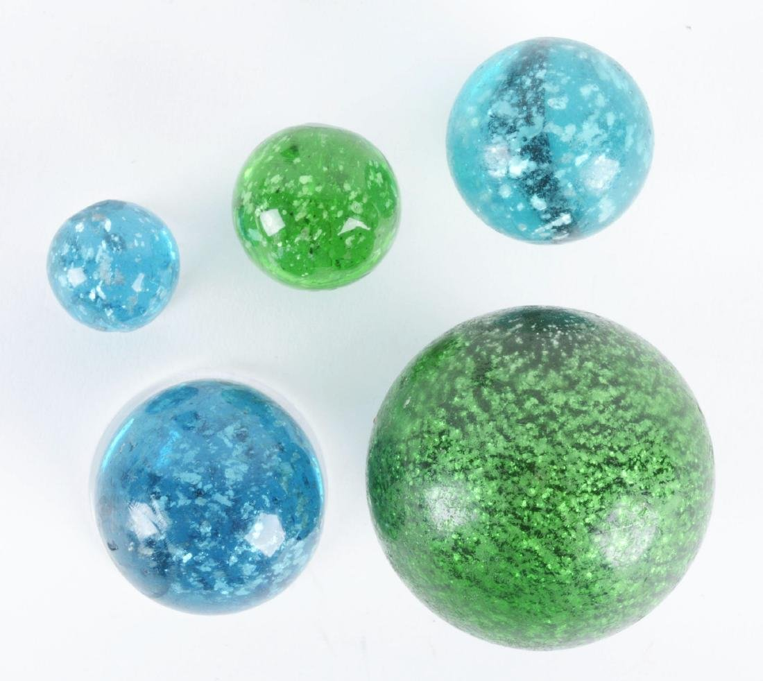 Lot Of 5: Mica Marbles.