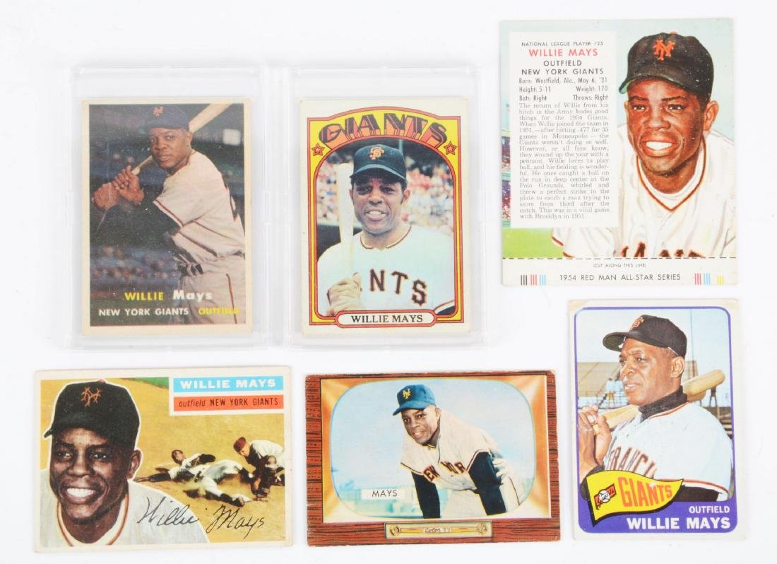 Lot of 6: 1950's & 1960's Topps & Bowman Willie Mays